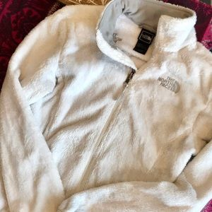 White Fuzzy {The North Face} Zip-Up